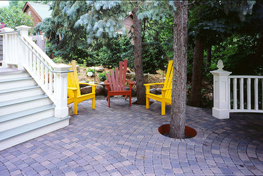 16 Pavers on a Deck