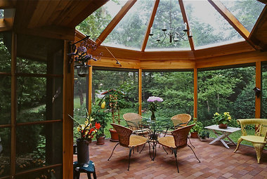 4 Glass Roof Porch
